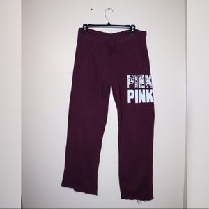 ✨PINK /Victoria's Secret✨ Boyfriend Sweats (spots)
